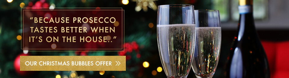 Prosecco always tastes better when its on the house at Miller & Carter Talke