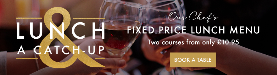 Fixed price lunch menu at Miller & Carter Mitcham