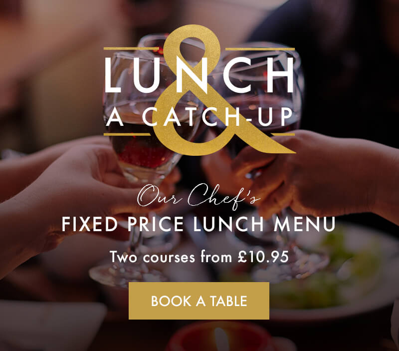 Fixed price lunch menu at Miller & Carter Brookmans Park