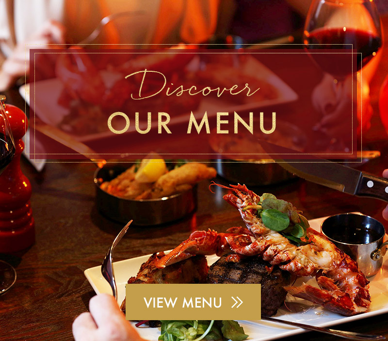 View our New Menu now at Miller & Carter Cardiff Bay