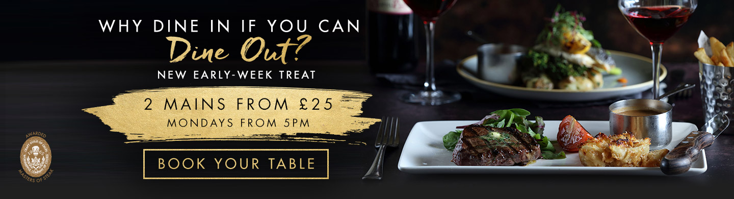 Book your table at Miller & Carter Solihull for an Early Week Treat!