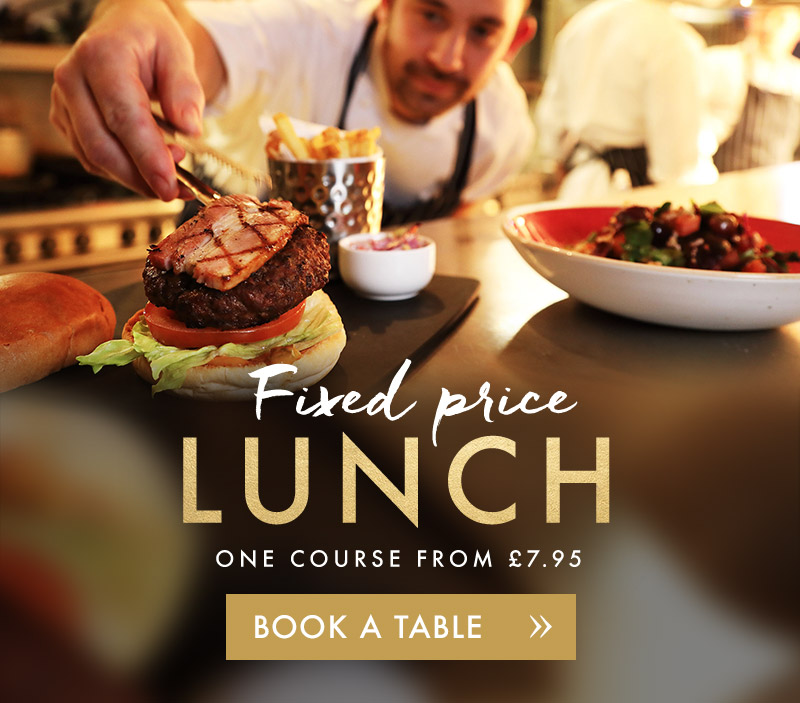Fixed price lunch menu at Miller & Carter Hereford
