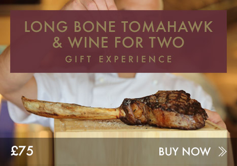 Long bone tomahawk & wine for two experience