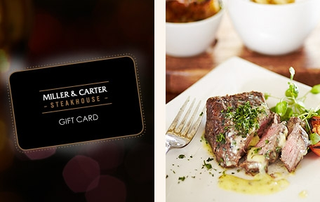 Spoil someone with a Miller & Carter Gift Card