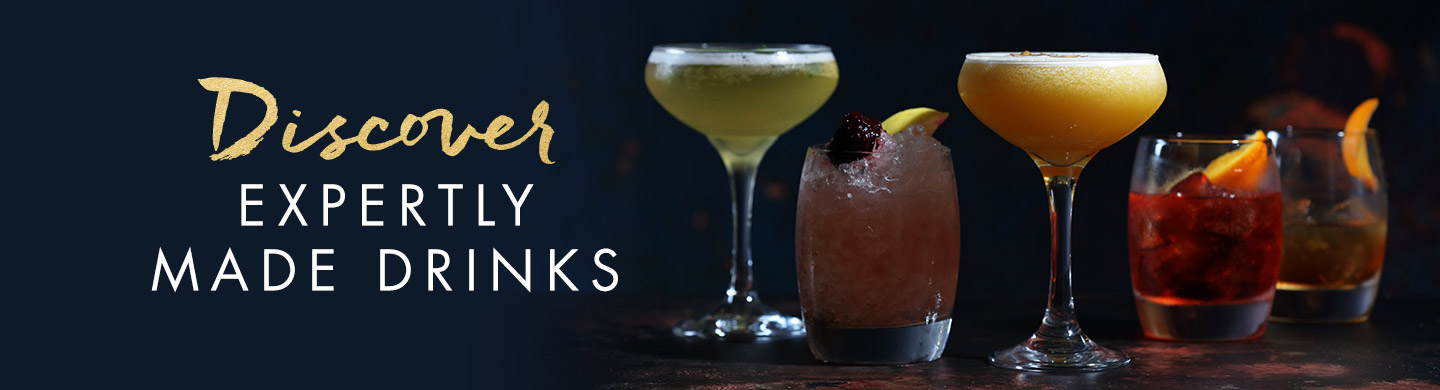 Drinks available at Miller & Carter