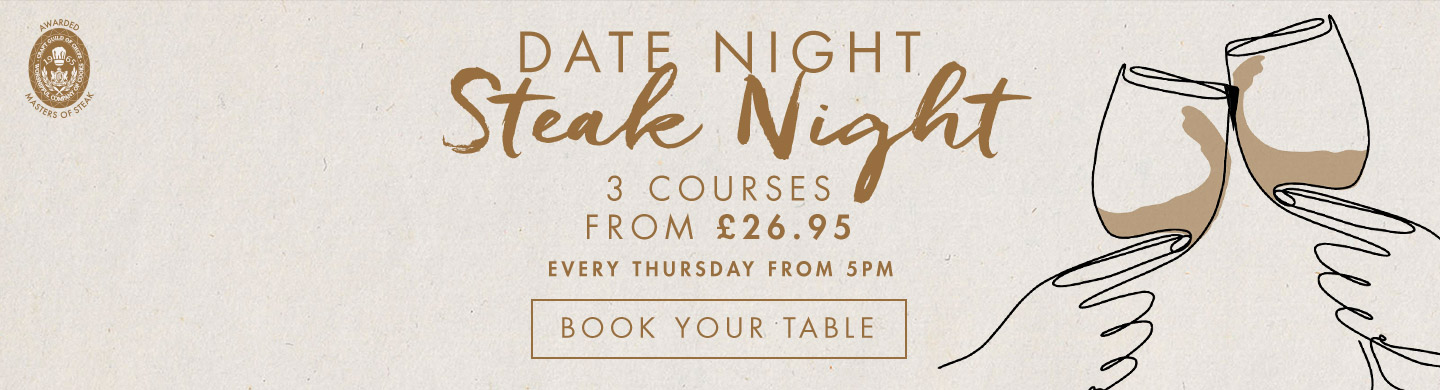 Dates & Steaks at Miller & Carter Epping Forest