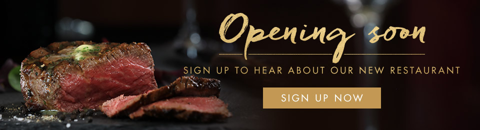 Miller & Carter Sheffield Centertainment is opening soon - sign up now