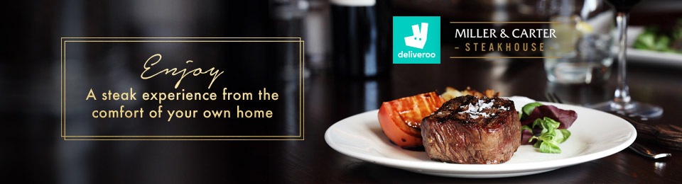 Deliveroo at Miller & Carter Plymouth