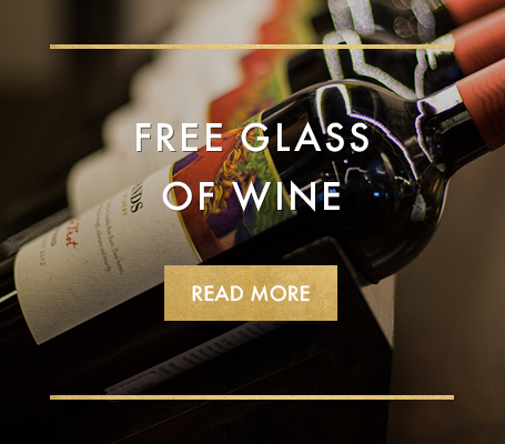 Free glass of wine when you sign up