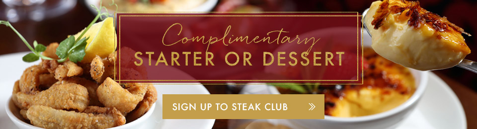Sign up to Steak Club
