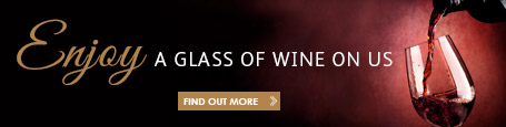 Get a free glass of wine on us when you sign up to our newsletter